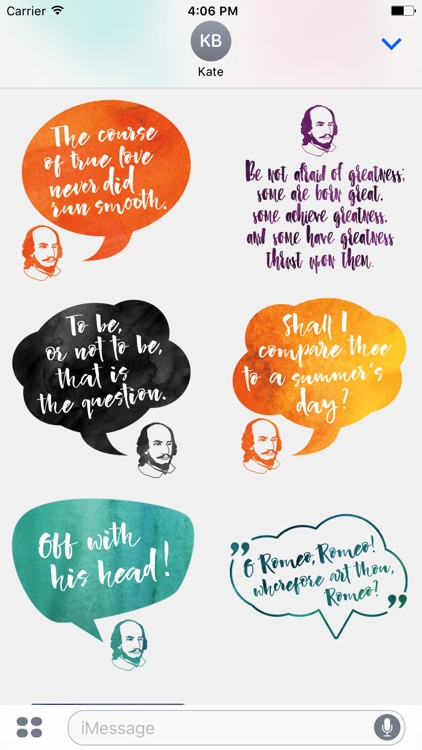 William Shakespeare's Quotes for iMessage Stickers