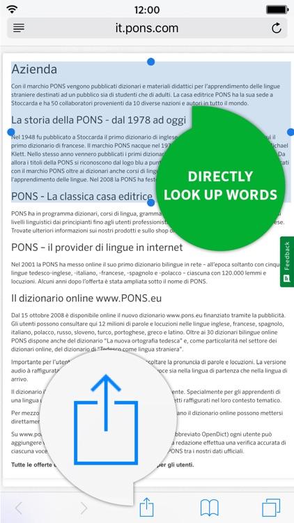 Dictionary Italian - German PREMIUM by PONS screenshot-3