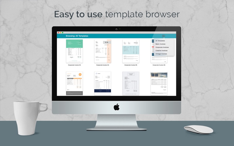 Quick Invoice 100 Invoice Templates For Pages App Price Drops