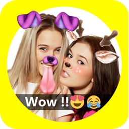 Faceu stickers - funny filters Dog face & Emoji