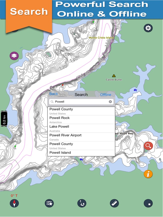 Powell - Glen Canyon N offline lake & park trails on the App Store
