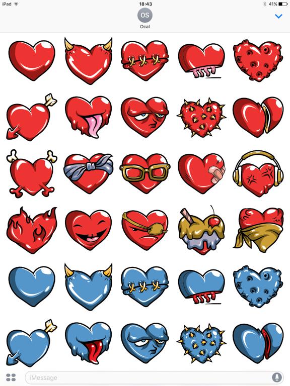 Heart iMessage Stickers-ipad-0