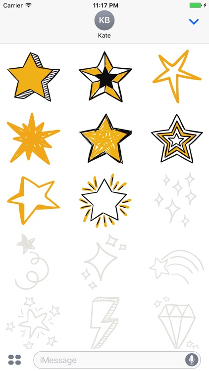 Animated Cute Star Stickers