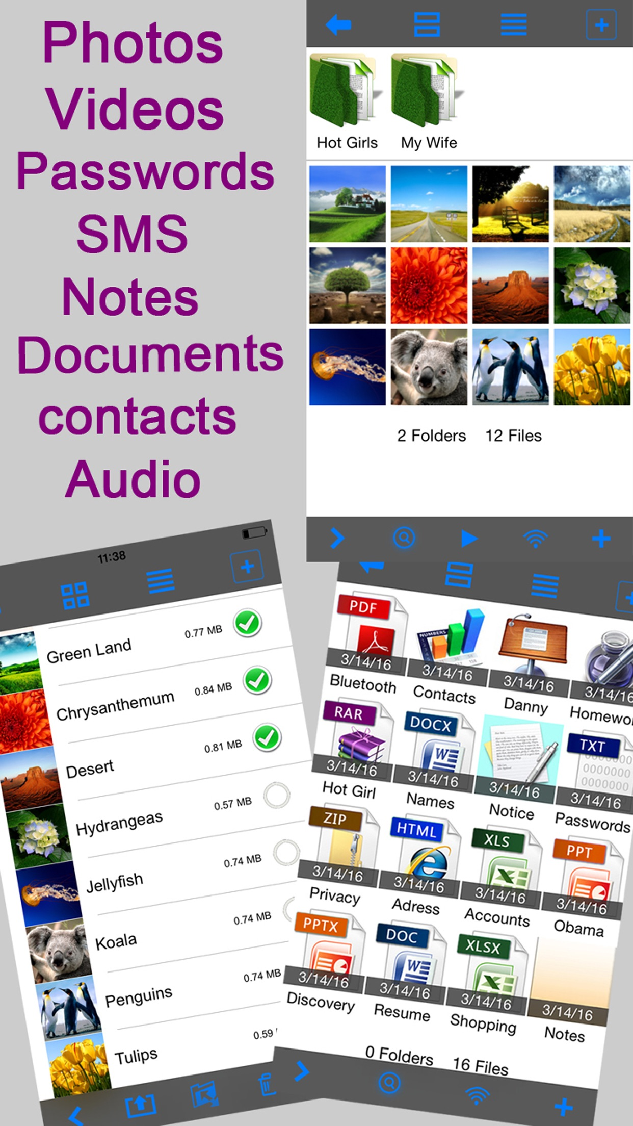 Lock Photos Safe: Hide Private Photo Picture Vault Screenshot