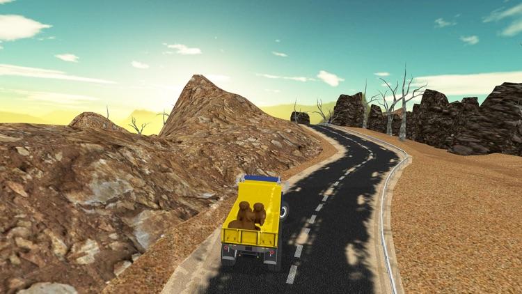 Cargo Truck Drive-Desert Truck Simulator 3D screenshot-3