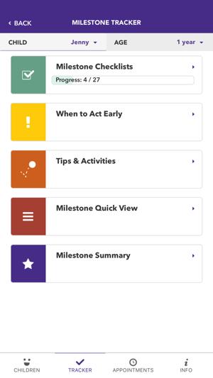 cdc s milestone tracker en app store
