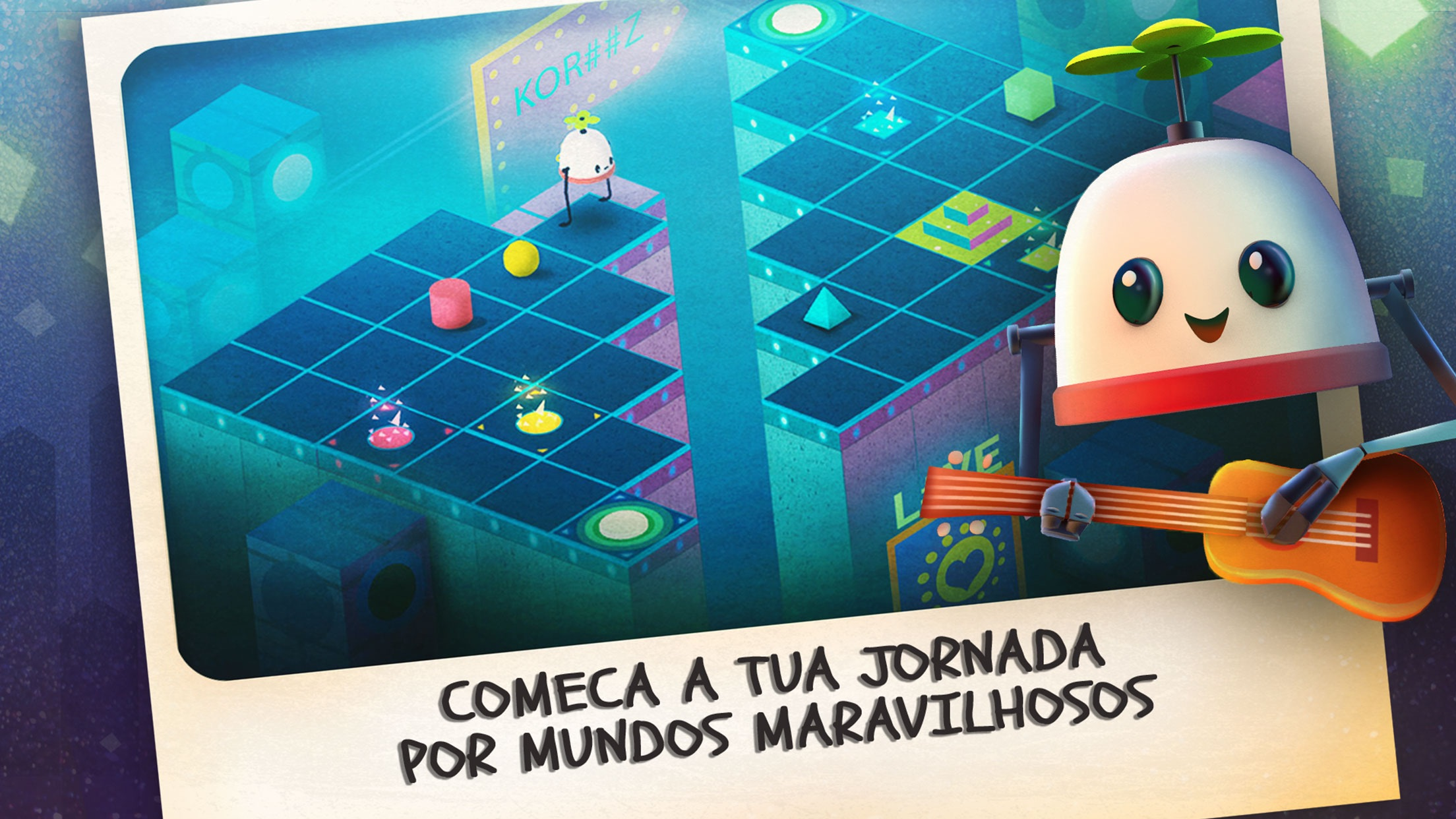 Screenshot do app Roofbot: Puzzler On The Roof