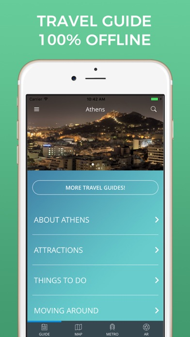 Athens Travel Guide with Offline Street Map screenshot one