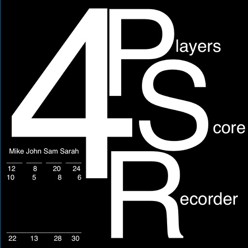 4 Players Score Recorder : تسجيل النقاط ل ٤ لاعبين
