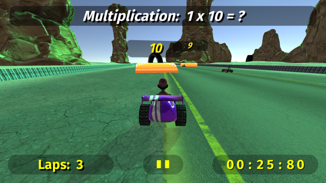 ‎Math Racing 2 Pro Screenshot