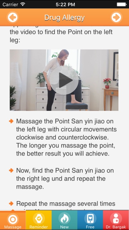 Allergy Acupressure Self-Treatment Massage Points