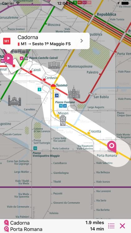 Milan Rail Map