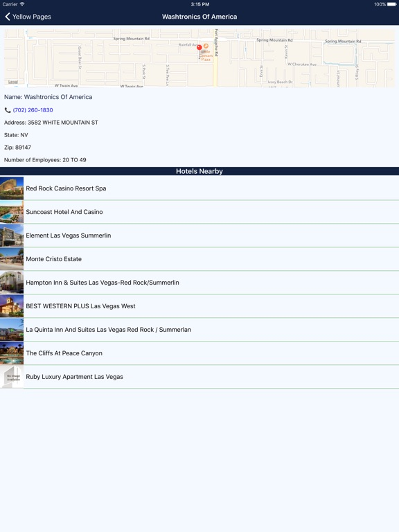 Screenshot #4 for i4vegas - Las Vegas Hotels, Yellow Pages Directory