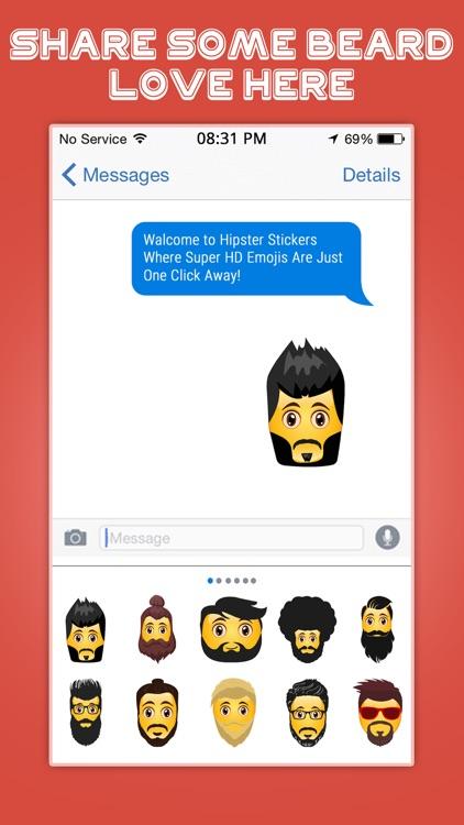 Hipster Emoji Stickers screenshot-4