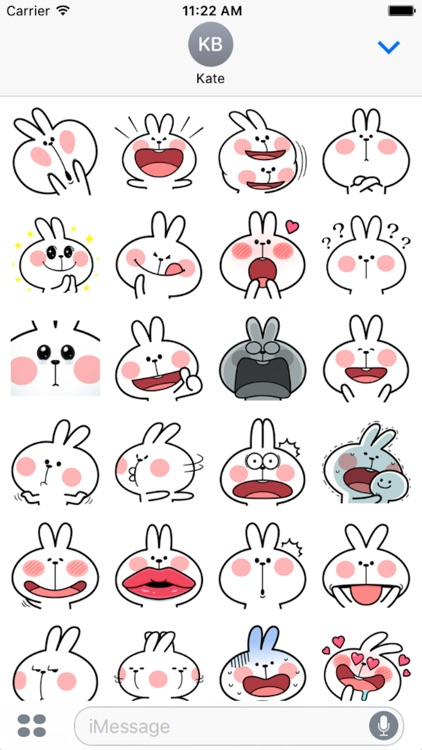Cool Rabbit Facial Emoji