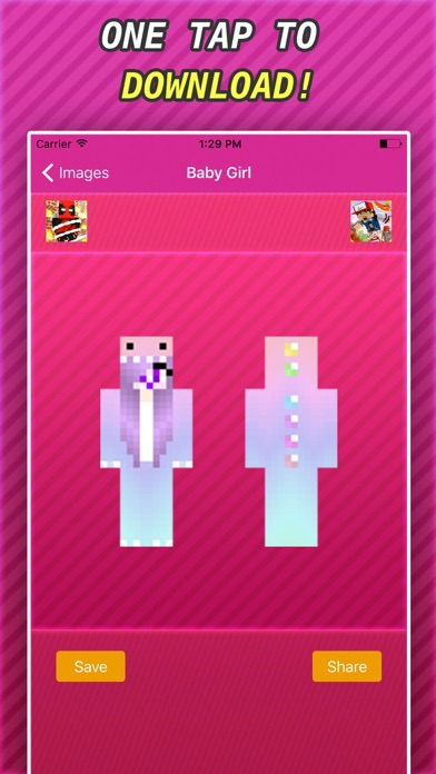 New BABY GIRLS SKINS FREE For Minecraft PE & PC iOS
