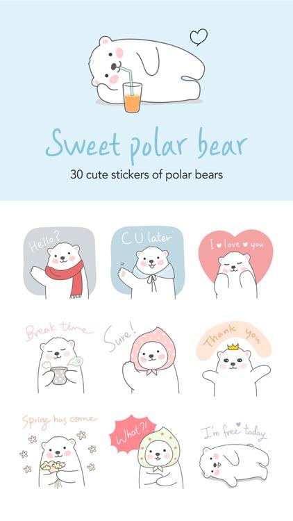 Sweet polar bear stickers