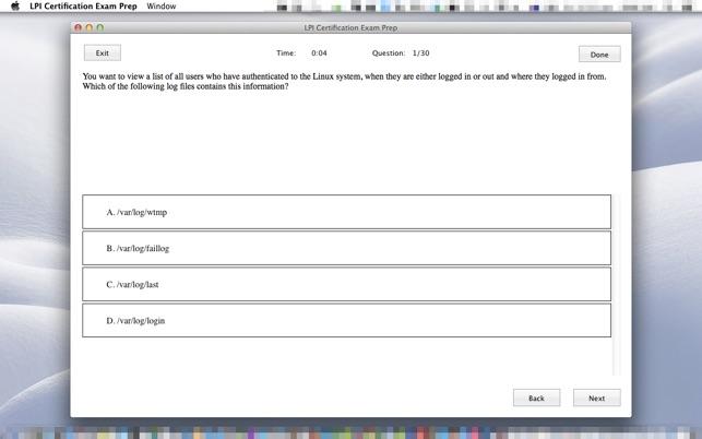 LPI Certification Exam Prep on the Mac App Store