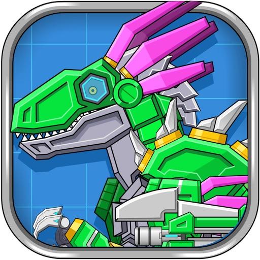 Velociraptor Rex Dino Robot War iOS App