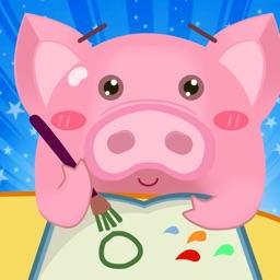 小猪学画画-儿童绘画艺术启蒙绘本