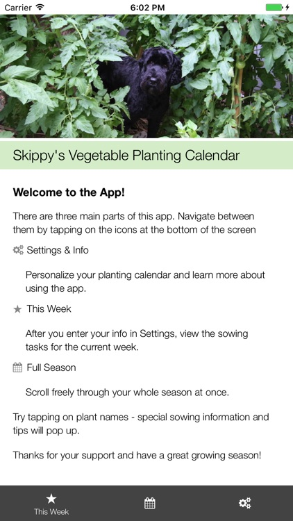 Skippy's Vegetable Planting Calendar