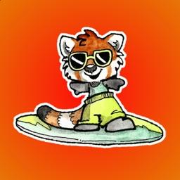 Cheerful Red Panda Stickers