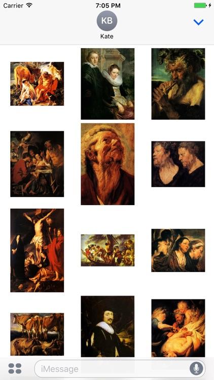 Jacob Jordaens Artworks Stickers