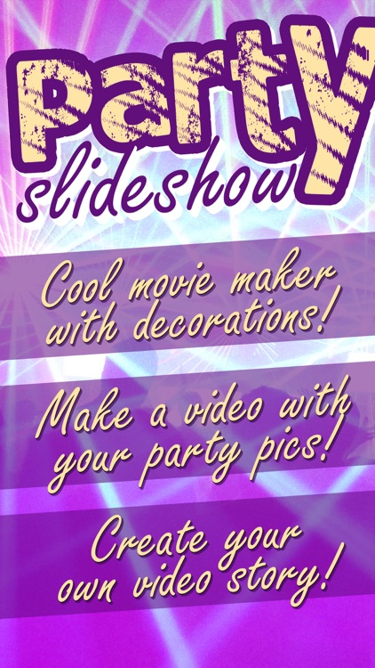 Party Slideshow Maker with Music & Video Editor by