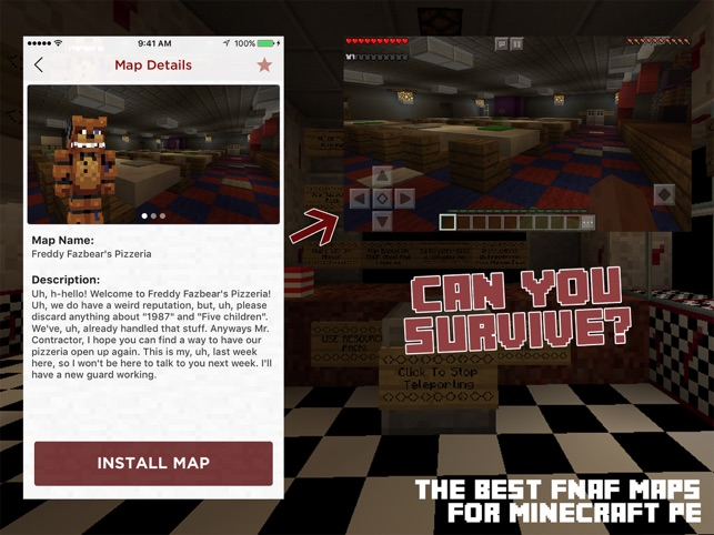 Fnaf maps for minecraft pe on the app store fnaf maps for minecraft pe on the app store gumiabroncs Choice Image