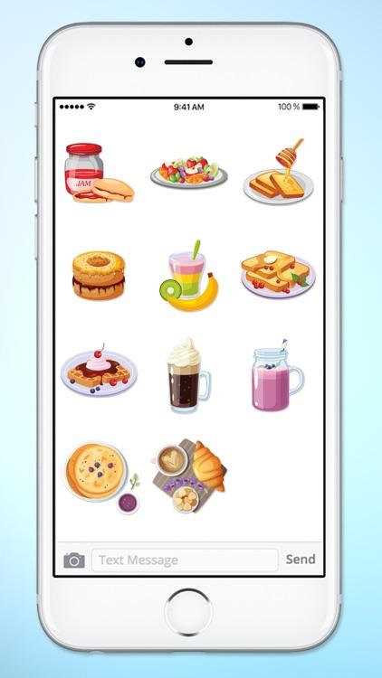 Breakfast and Brunch Food Sticker Pack screenshot-4