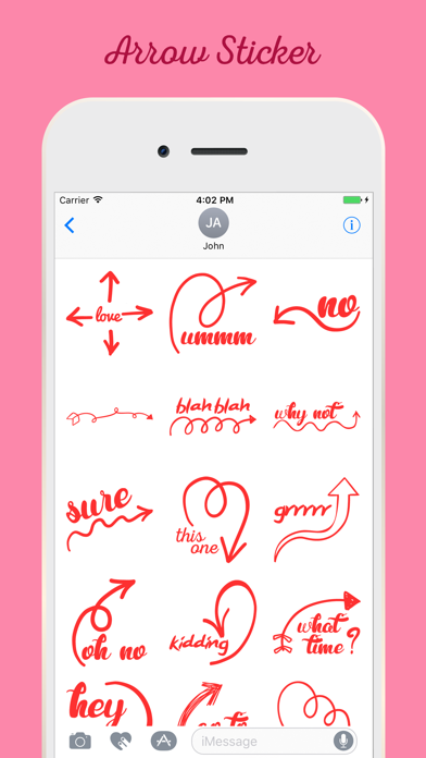 Screenshot of Arrow Stickers For iMessage App
