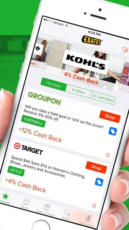 Ebates: Cash Back & Coupons
