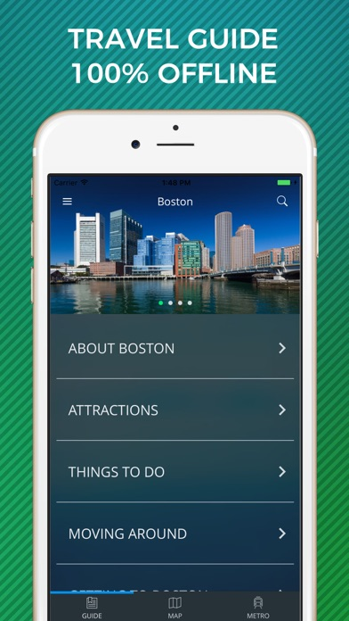 Boston Travel Guide with Offline Street Map