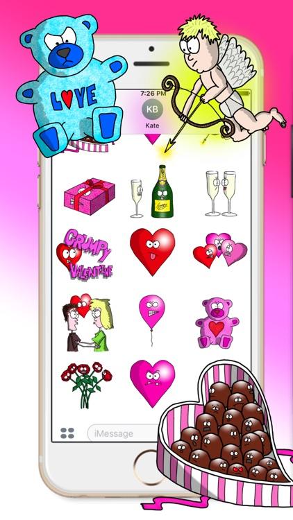 Grumpy Valentine's Stickers screenshot-3