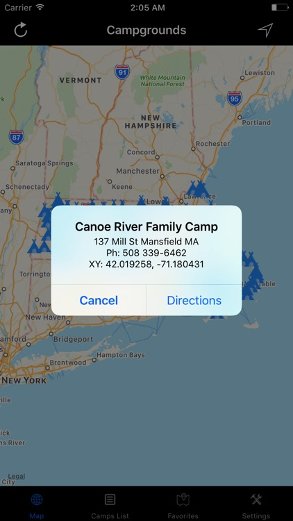 Massachusetts – Campgrounds & RV Parks screenshot-1