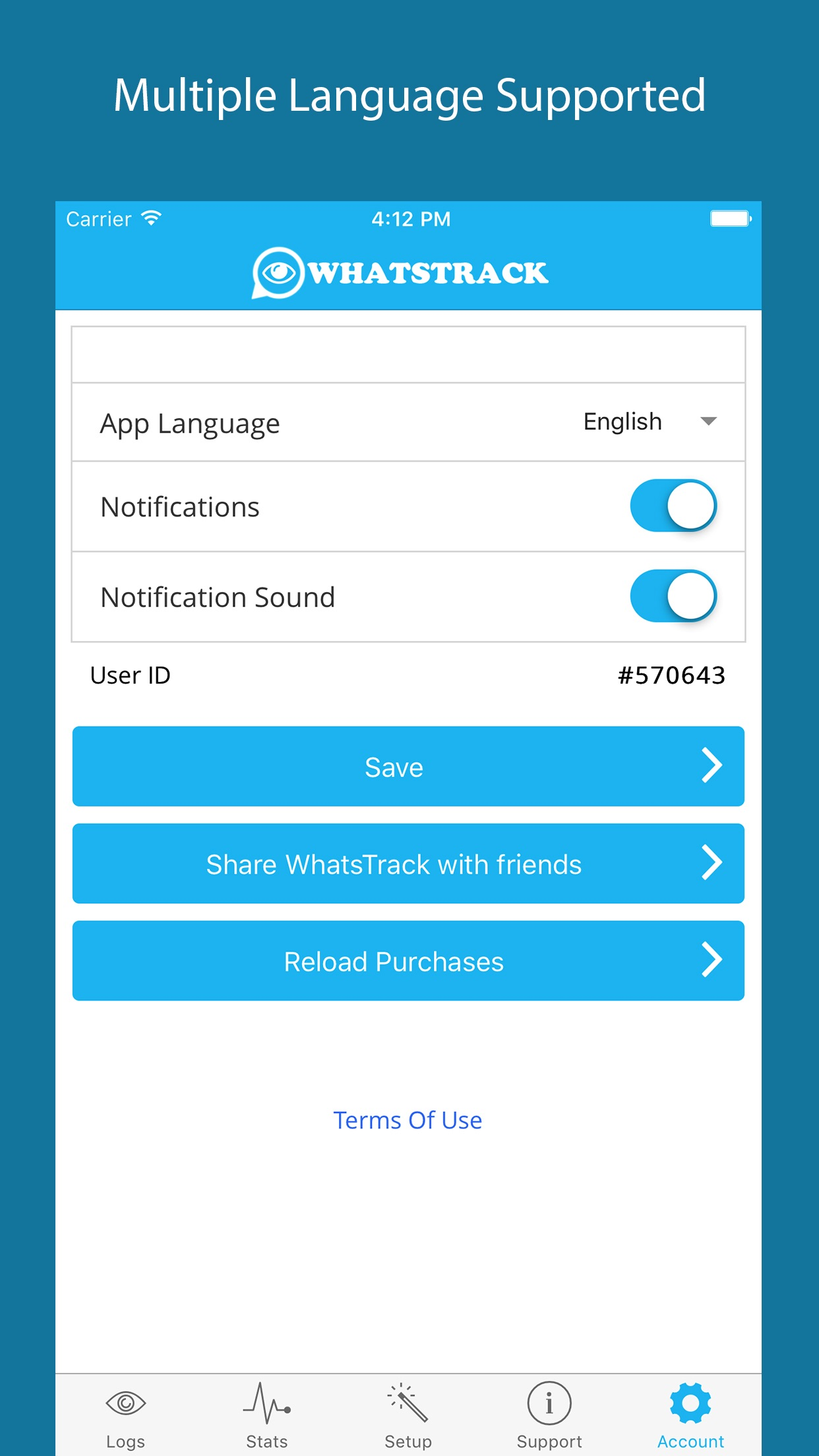 WhatsTrack For WhatsApp Screenshot