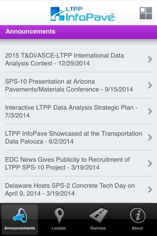 LTPP InfoPave Mobile - náhled