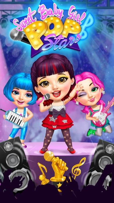 Sweet Baby Girl Pop Stars - No Ads screenshot 1