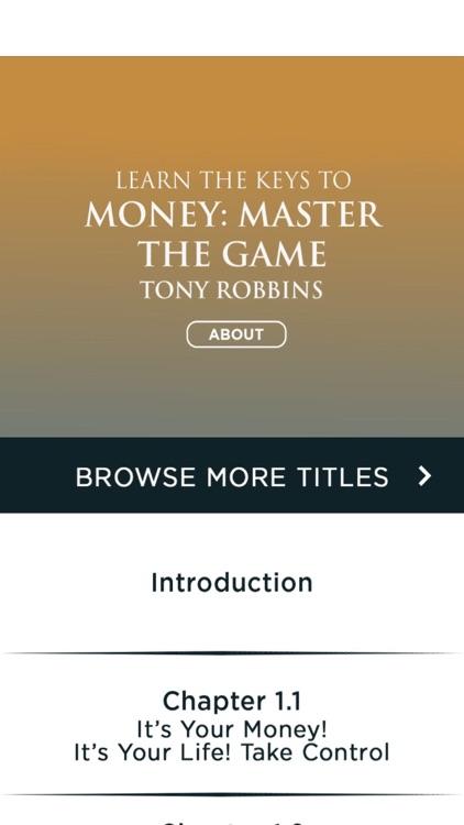 MONEY Master The Game by Tony Robbins - Meditation