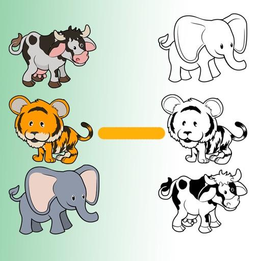 Draw a line to tether twinned animal. iOS App