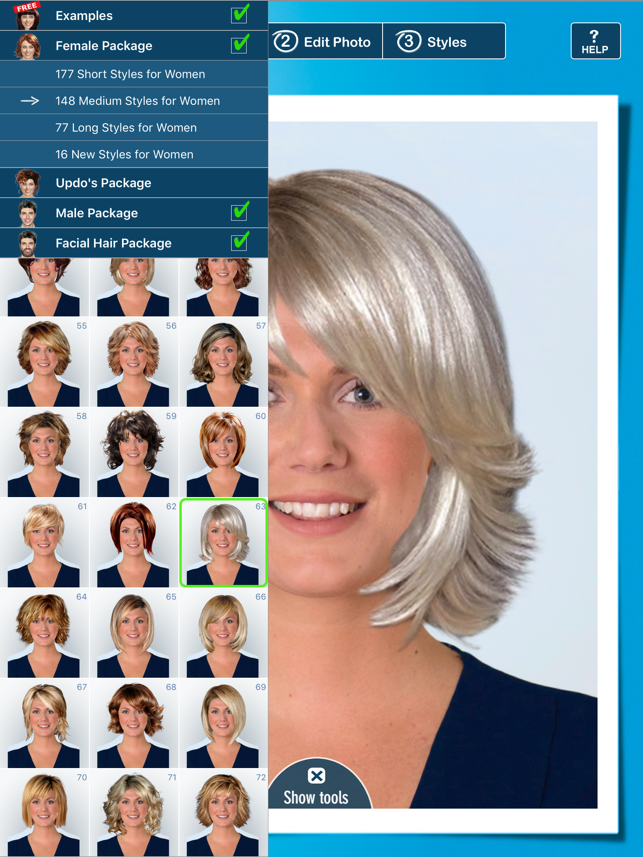 Hairstyle Pro Try On Hair Styles Men And Women On The App Store