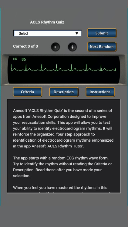 ACLS Rhythm Quiz screenshot-0