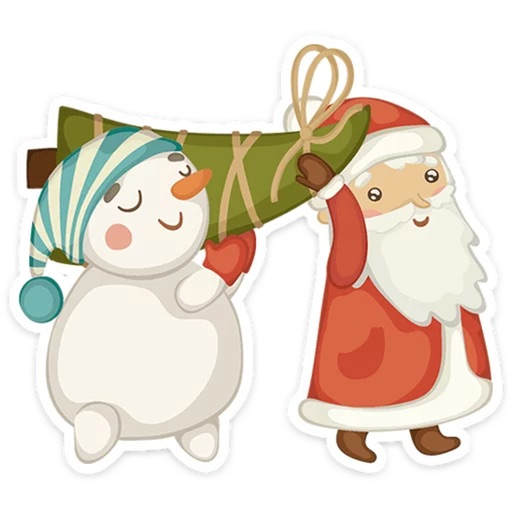 Happy Christmas Spirit Stickers