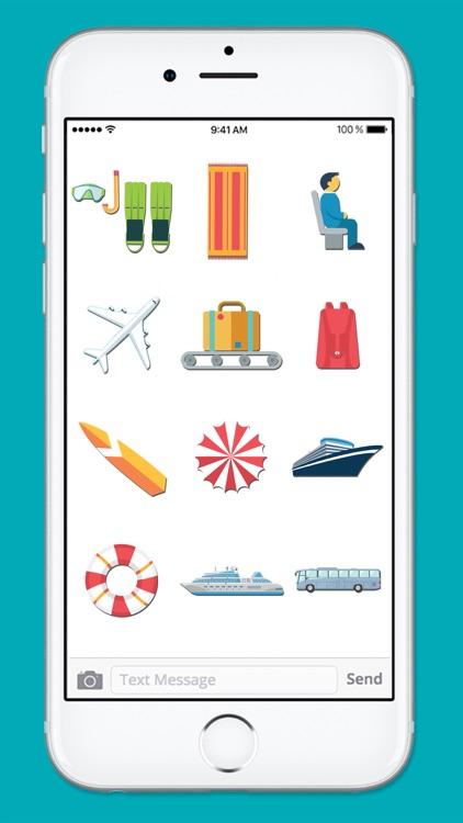 Vacation Travel & Transportation Sticker Pack screenshot-3
