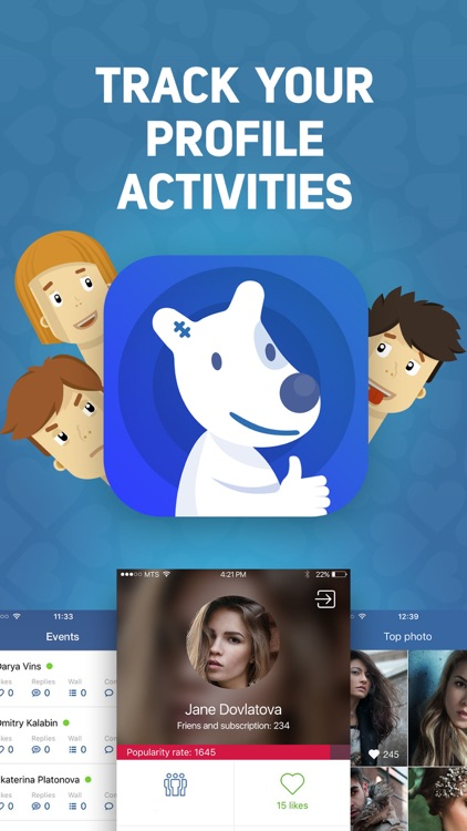 Track your friends activities in VK