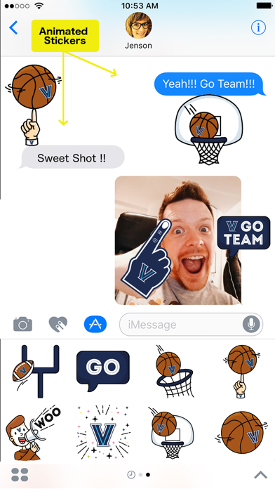 Villanova Animated Stickers review screenshots