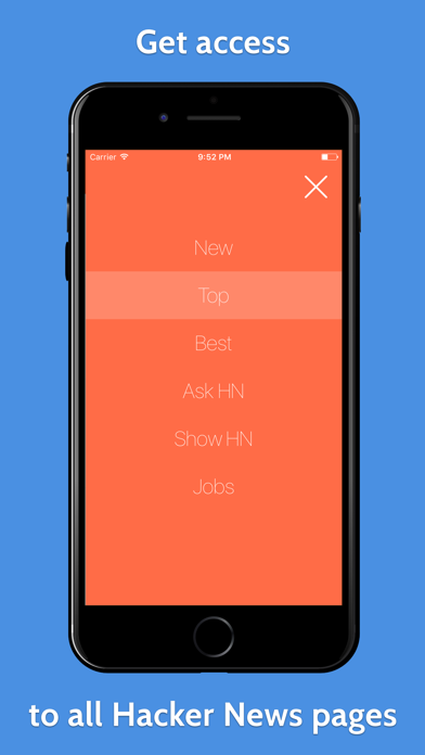 YCReader - hacker news app powered by official API screenshot three
