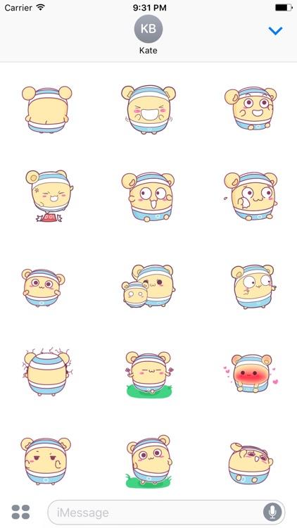 Shiro Hamster 2 animated sticker