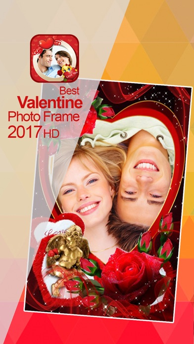 Valentine's Day Love Cards -Add colla Pic to Frame