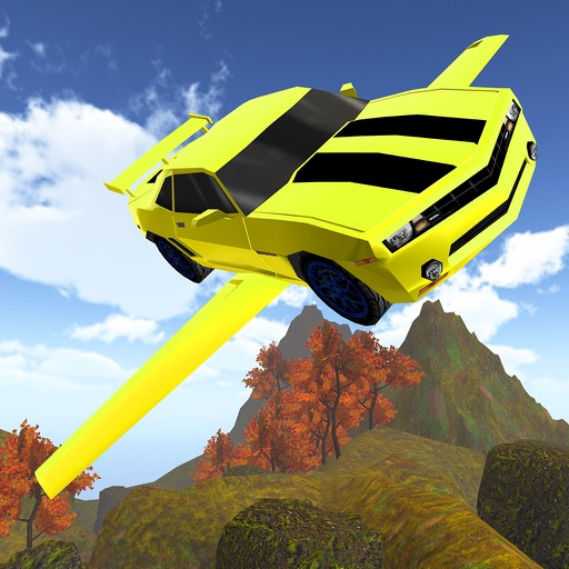 3D Flying Car VR Racing Simulator 2017 icon